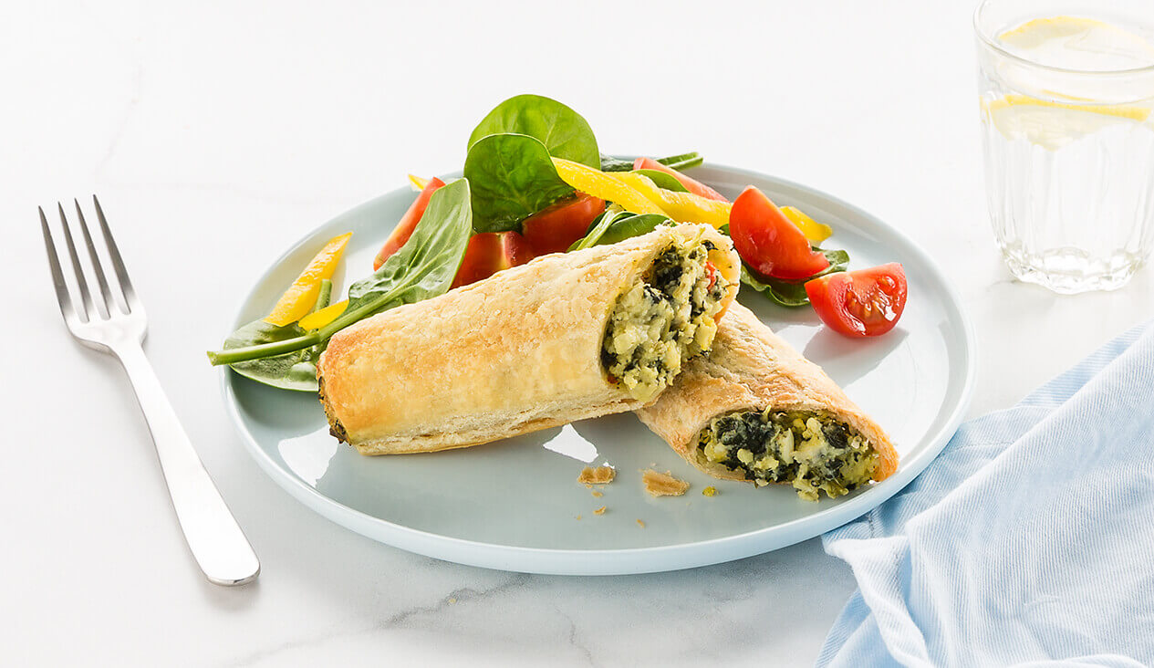 Vegetarian Spinach and Fetta Roll