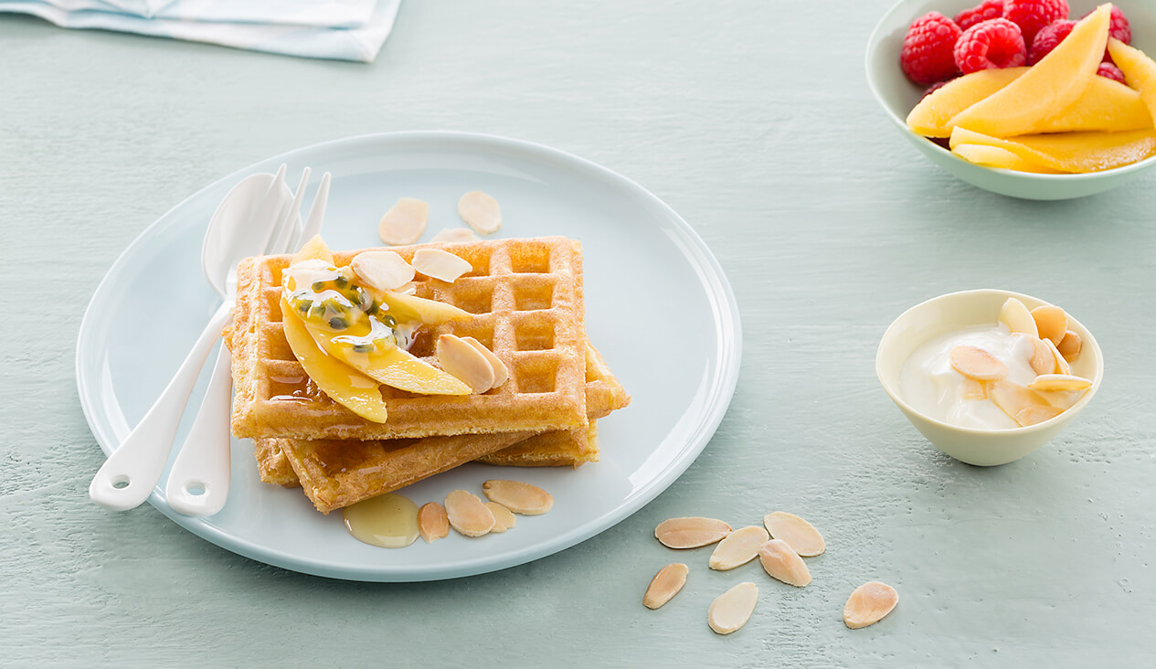 Waffles - A delicious vegetarian breakfast option